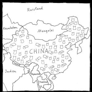 Zeichnung Chinakarte