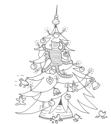Zeichnung Christbaum
