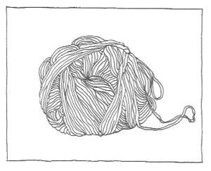 Zeichnung Wolle