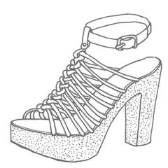 Zeichnung High Heel