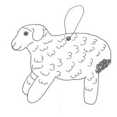 Zeichnung Lebkuchenschaf